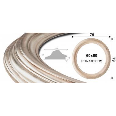 Круглая рама 1034377 диаметр 60 серебро патина
